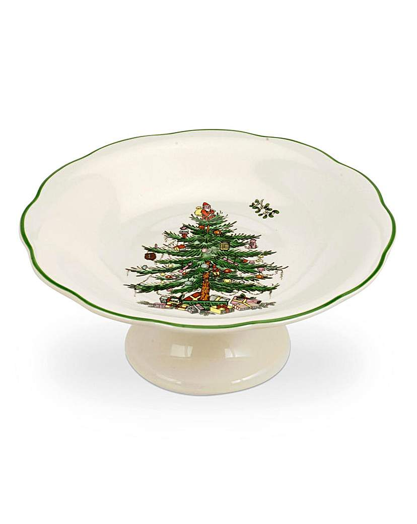 Product photo of Xmas tree sculpted footed candy dish