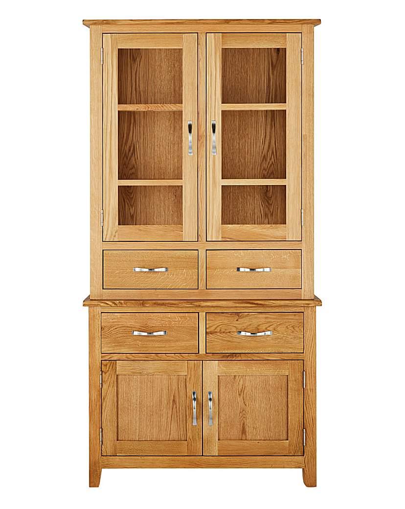 Image of Harrogate Oak Veneer Tall Display unit