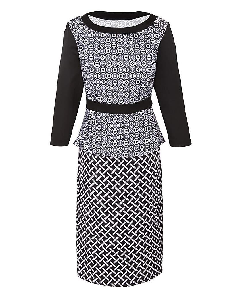 Image of Ava By Mark Heyes Geometric Print Dress