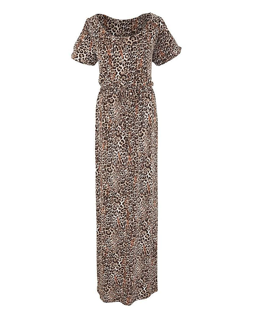 Image of Coleen Nolan Animal Print Maxi Dress