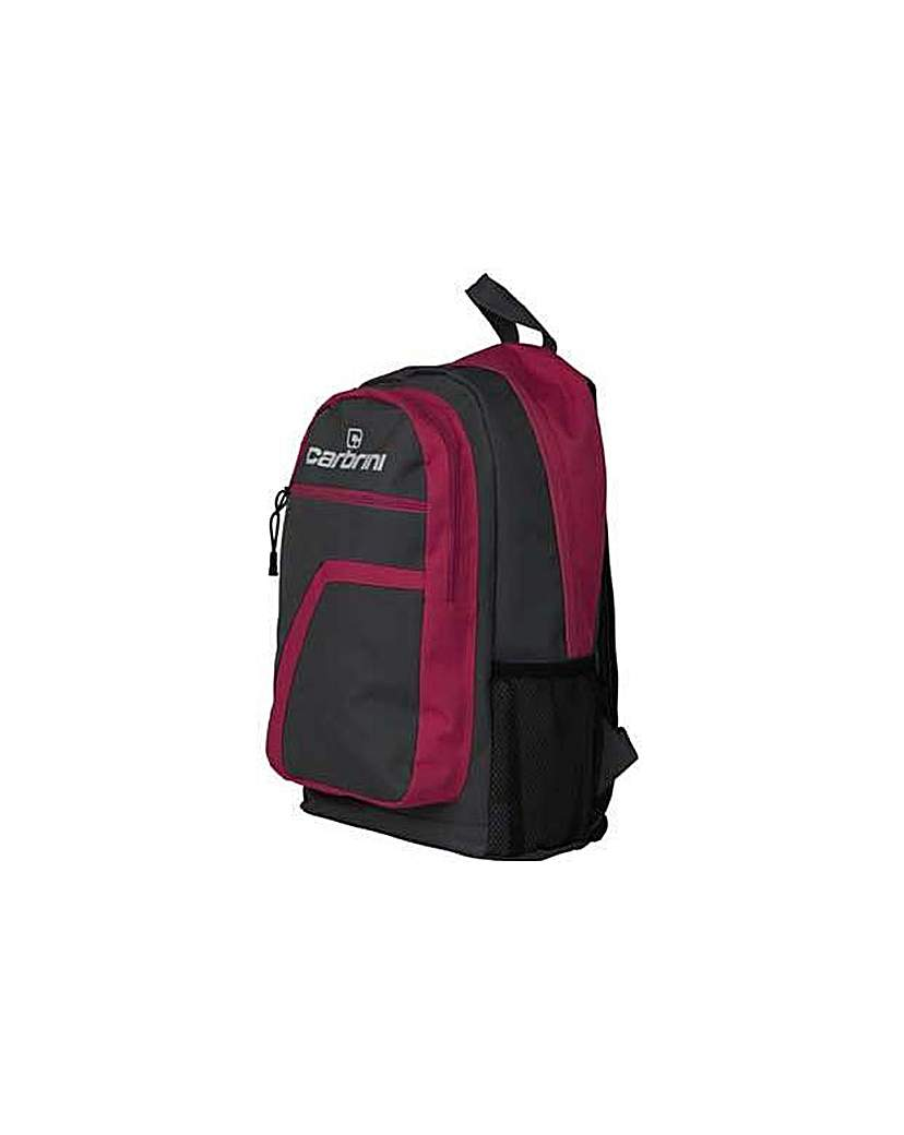 Image of Carbrini Backpack - Grey and Pink.