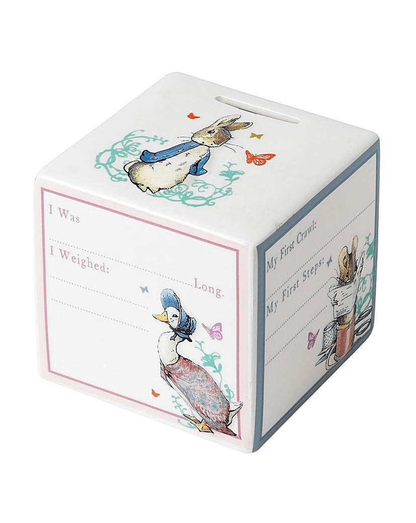 Image of Beatrix Potter New Baby Money Bank