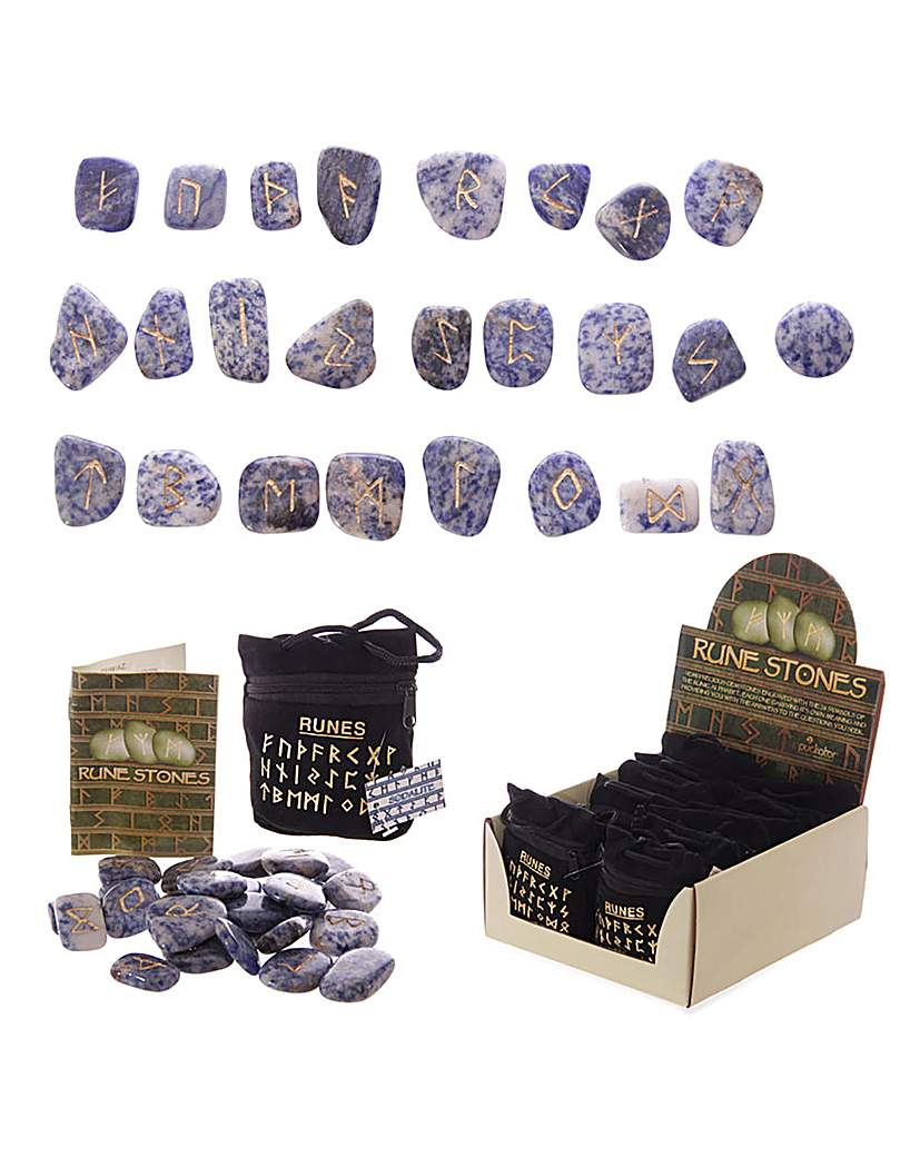Image of Bag of 24 Assorted Gem Rune Stone