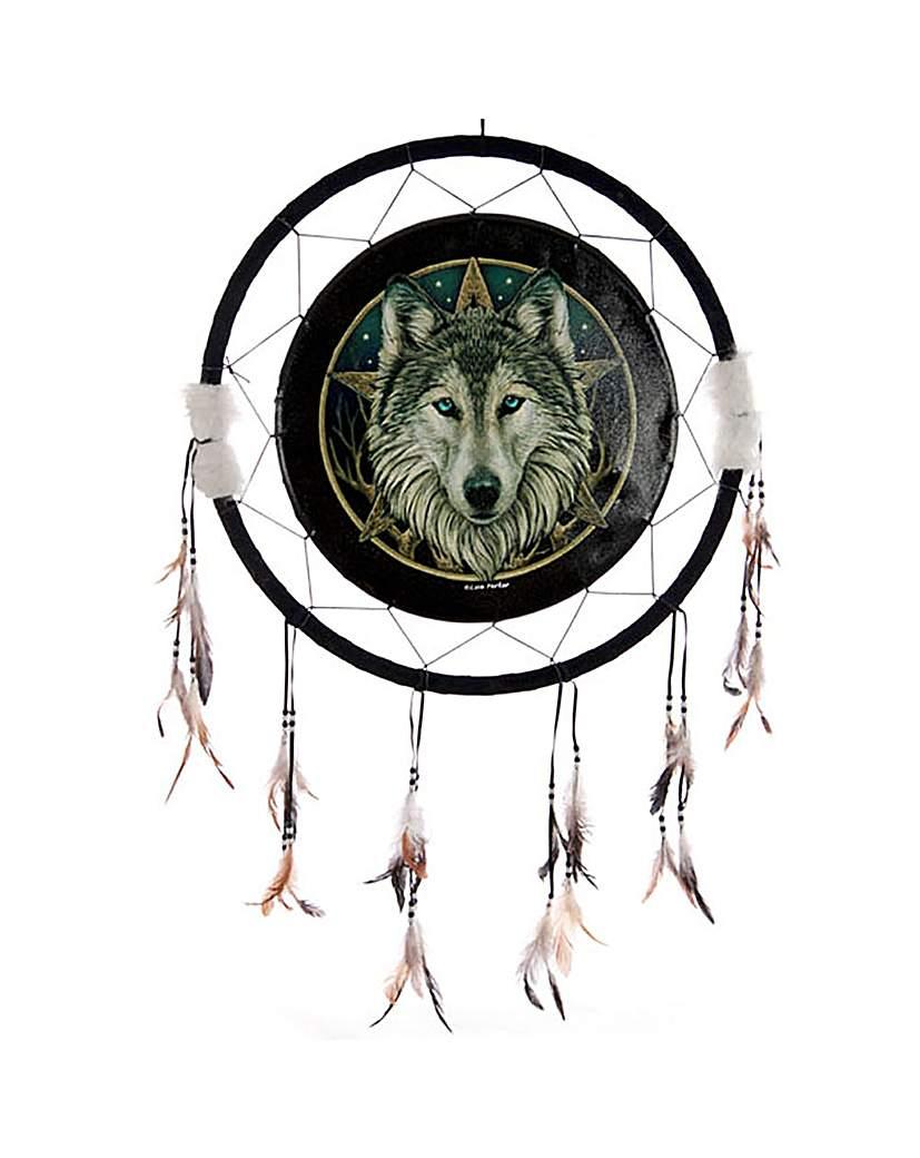 Mystic Wolf Head Large Dreamcatcher