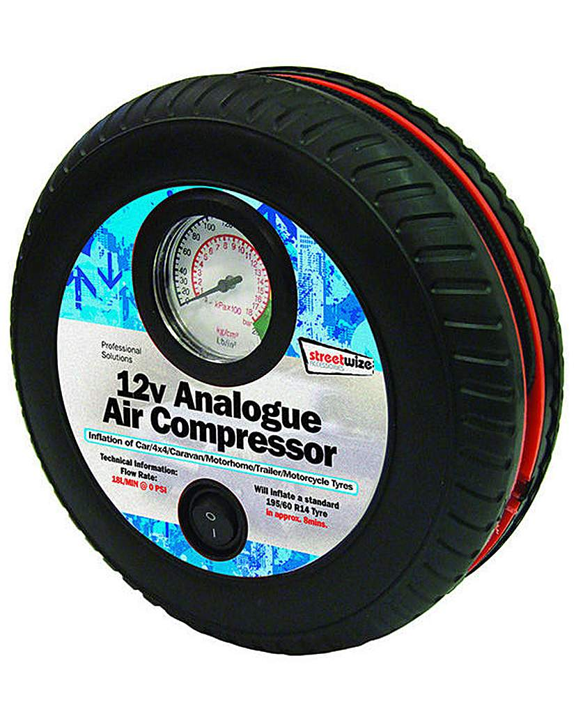 Image of 12v Tyre Shape 250psi Air Compressor