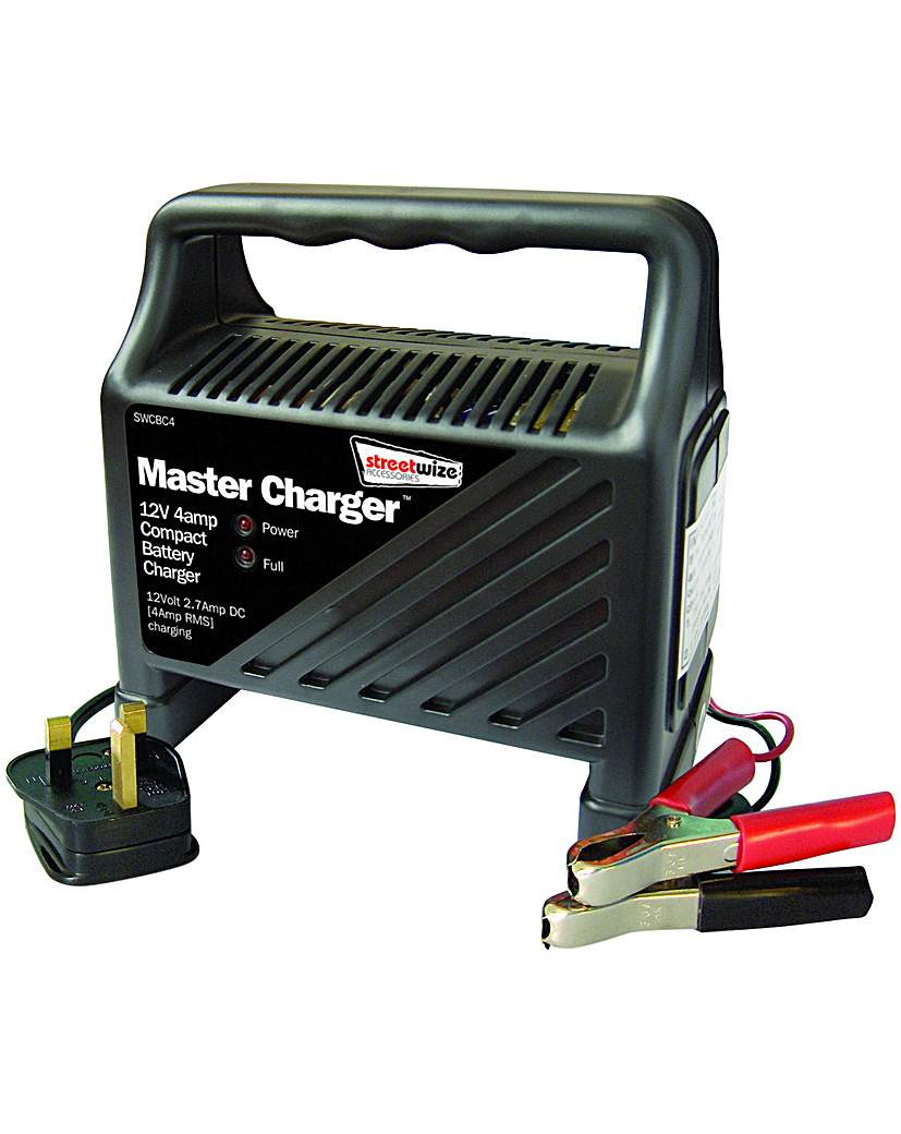 Image of Streetwize 12Volt 4 Amp Battery Charger