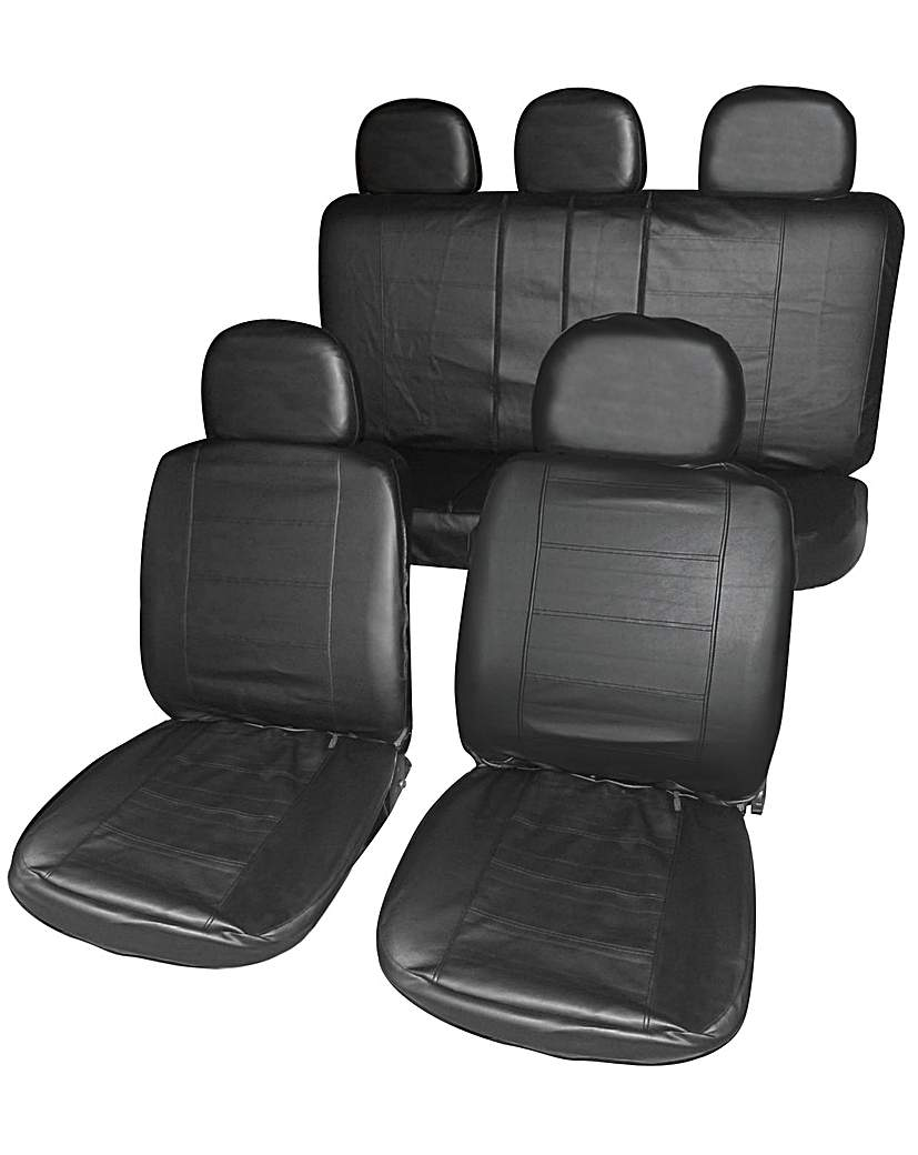 Image of Streetwize Blk Leather Look Seat Covers