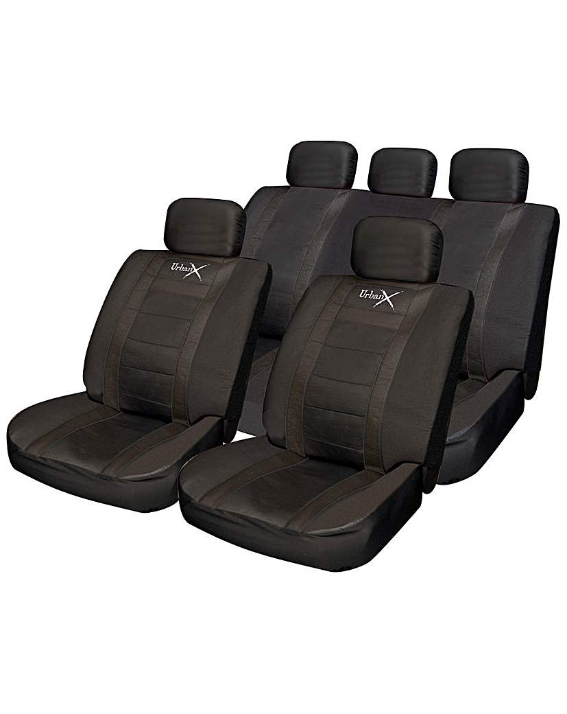 Image of Streetwize Leather Look Seat Cover Set