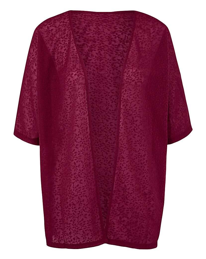Berry Floral Jacquard Kimono