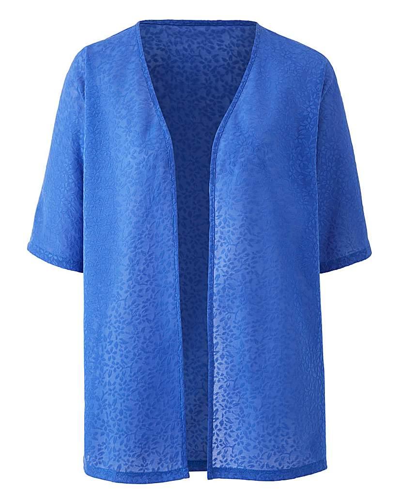 Cobalt Floral Jacquard Kimono