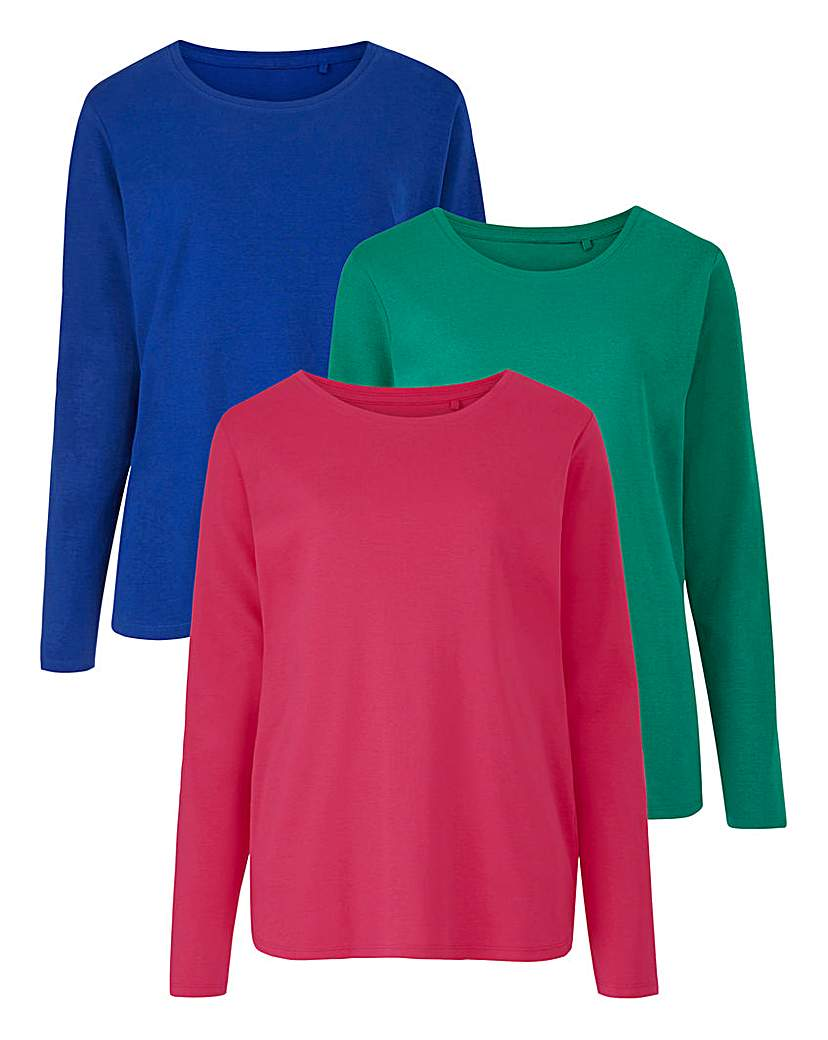 Pack Of 3 Round Neck Jersey Tops