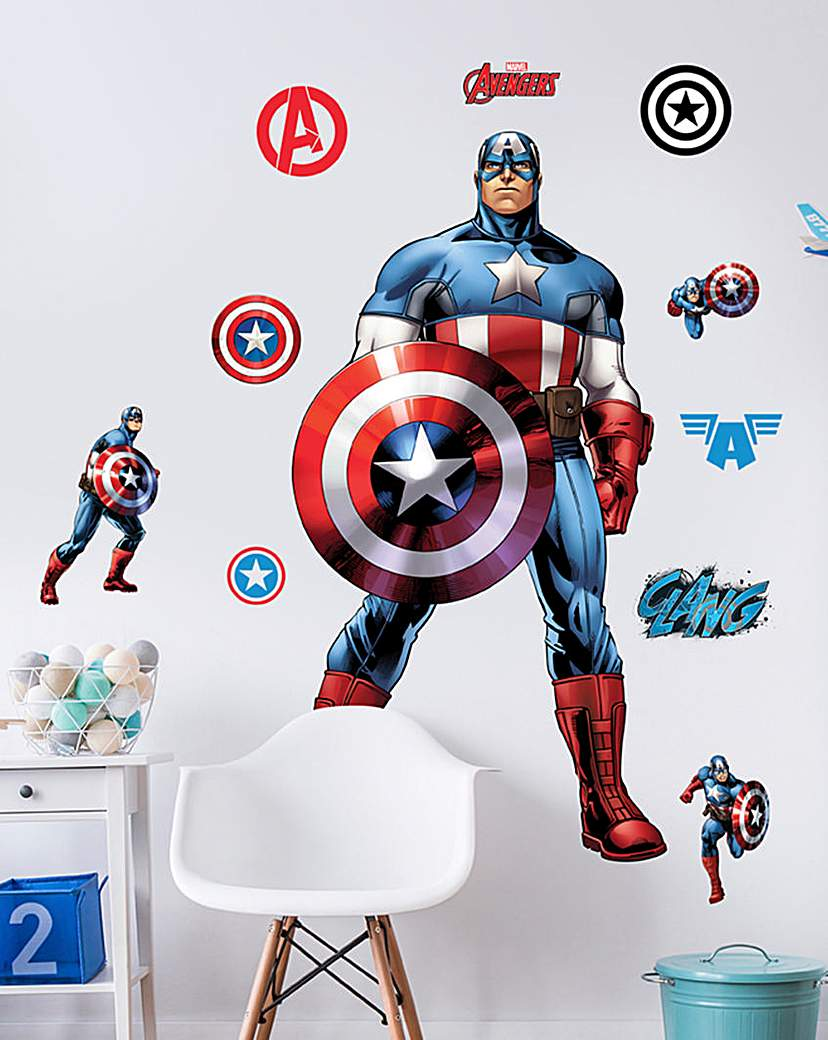 Image of Marvel Captain America Character Sticker