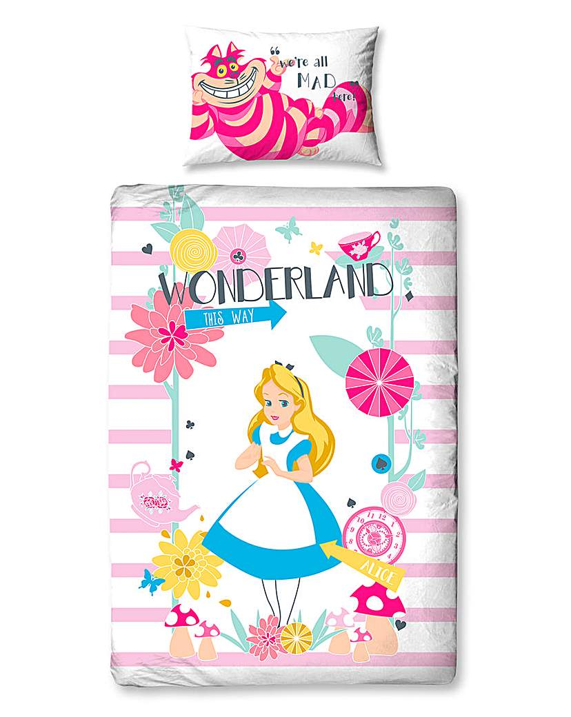 Image of Alice In Wonderland Single Panel Duvet