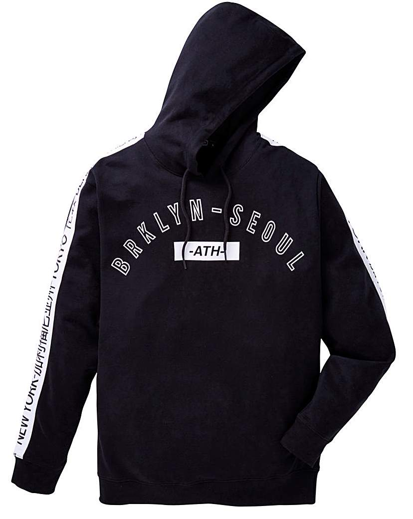 Image of Label J Sleeve Print Hoodie Long