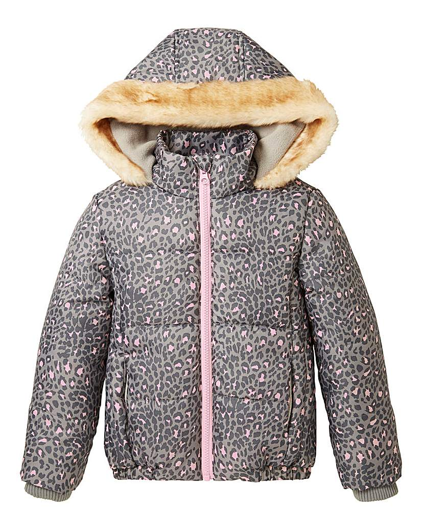KD Girls Padded Leopard Print Coat at The Brilliant Gift Shop