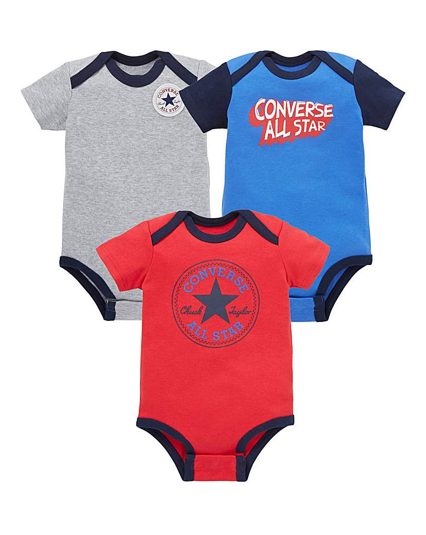 Converse Baby Boy Pack Three Rompers