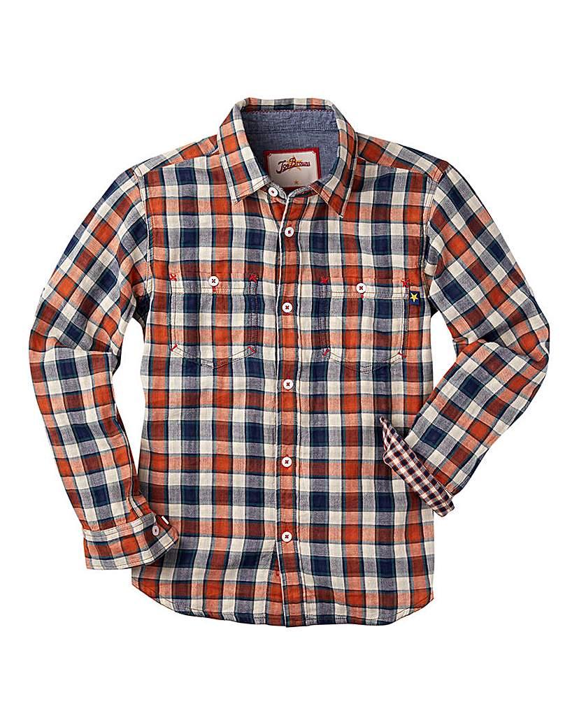 Image of Joe Browns Boys Dual Check Stripe Shirt