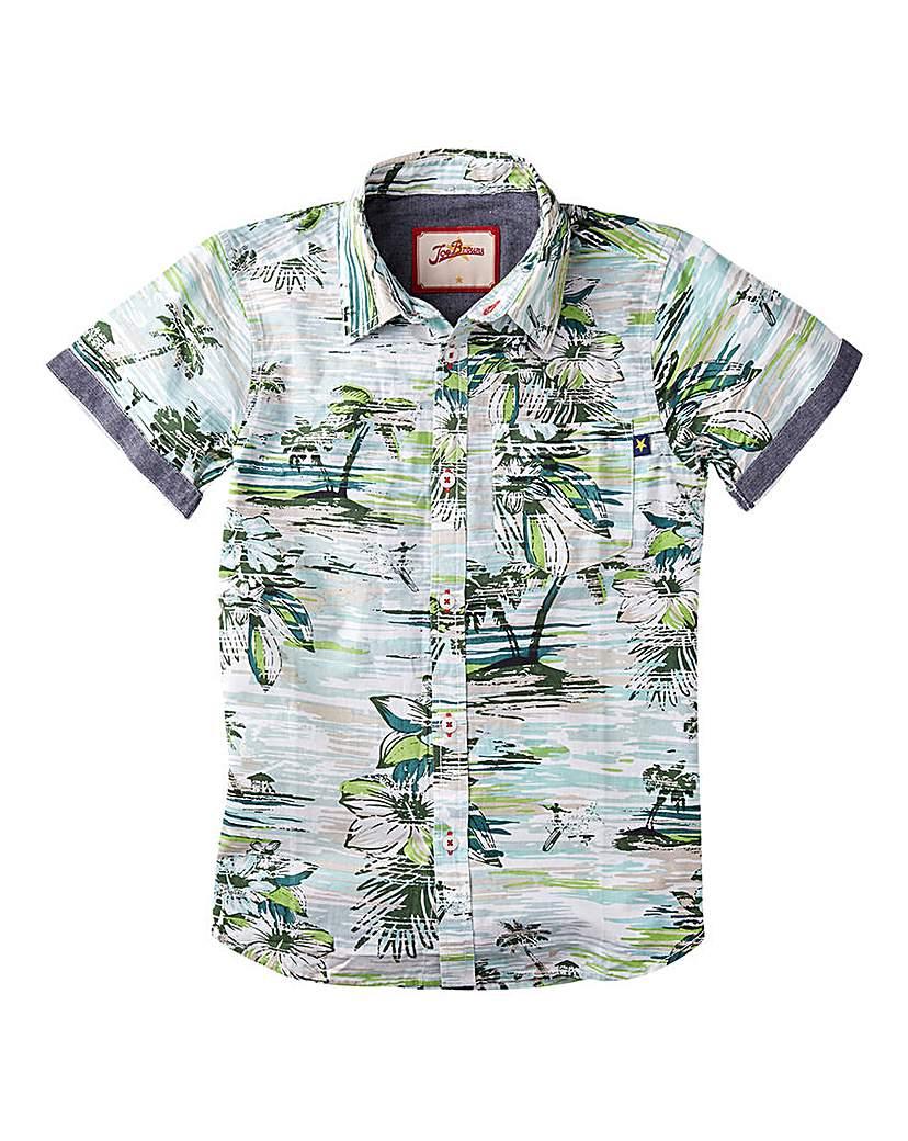 Image of Joe Browns Boys Short Sl Hawaiian Shirt