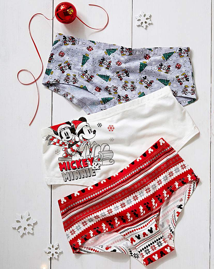 3 Pack Christmas Minnie Mouse Shorts