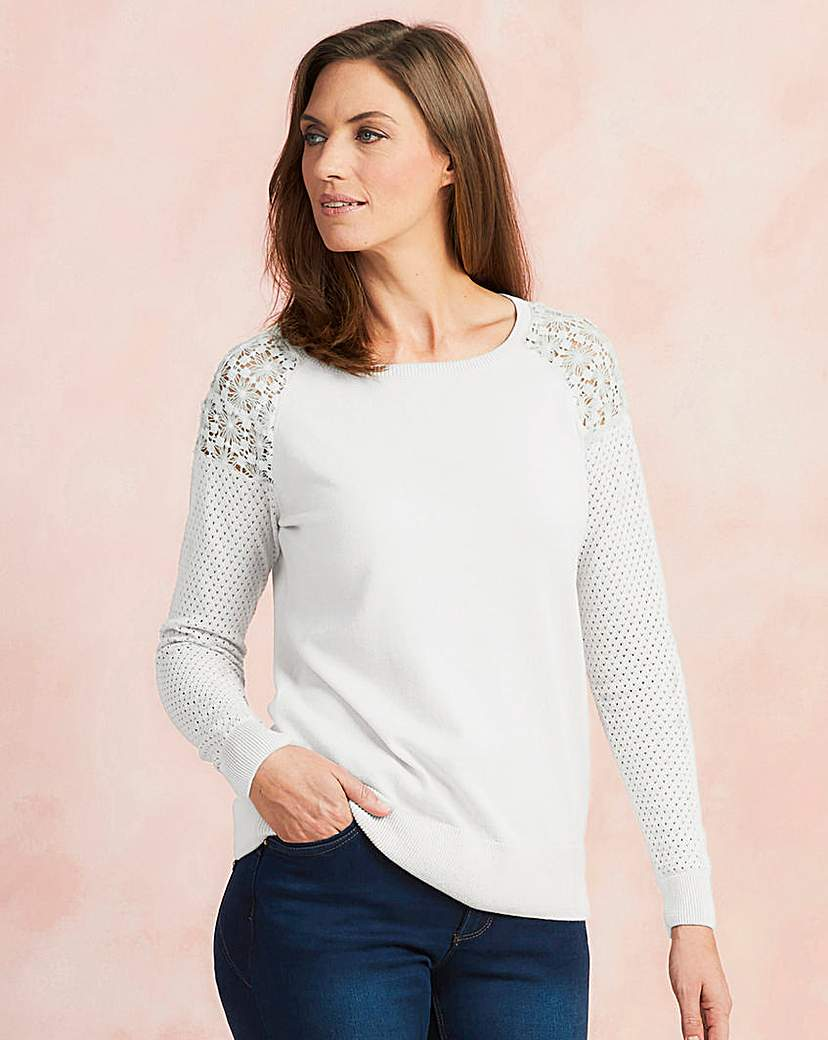 Image of Lace Detail Jumper