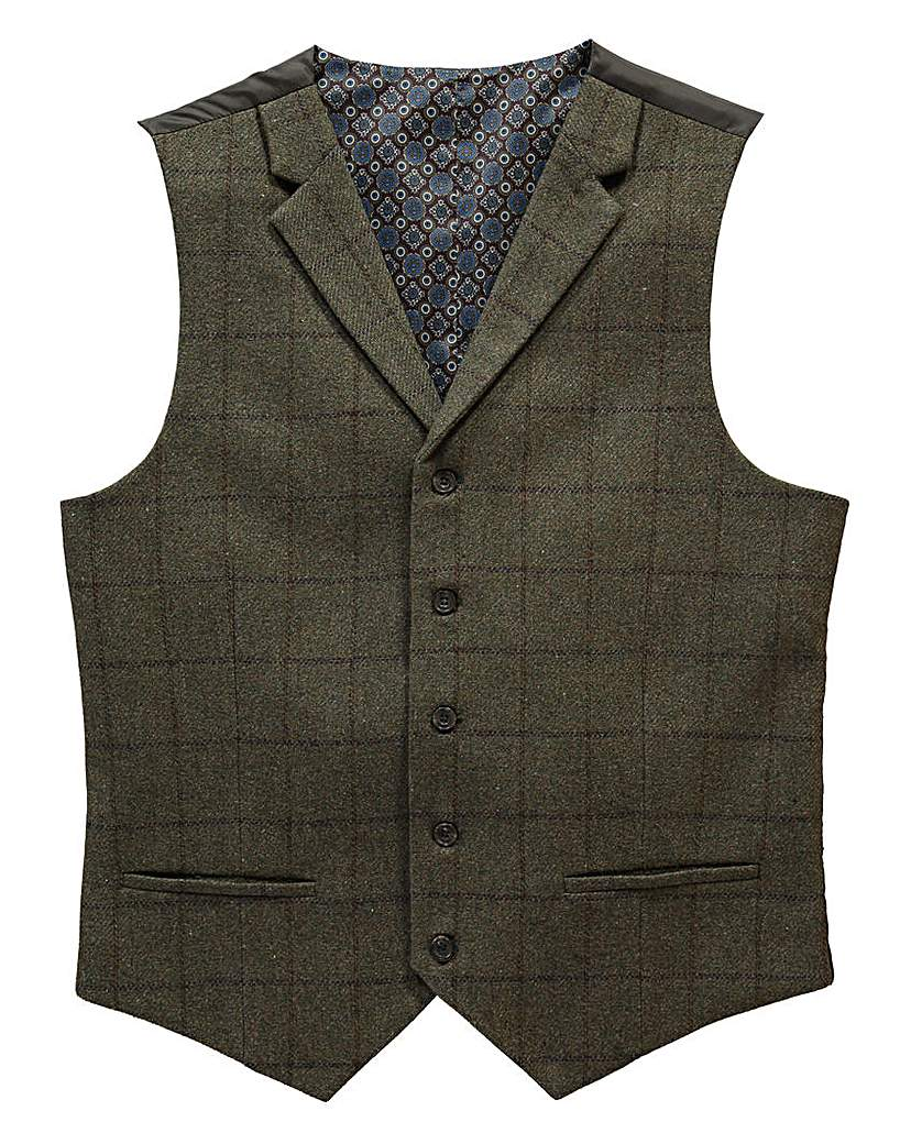 1920s Style Mens Vests Black Label By Jacamo Serano Waistcoat L £36.00 AT vintagedancer.com