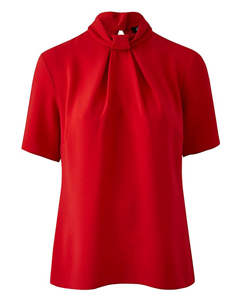 Shop 1960s Style Blouses, Shirts and Tops Closet High Neck Blouse £42.50 AT vintagedancer.com