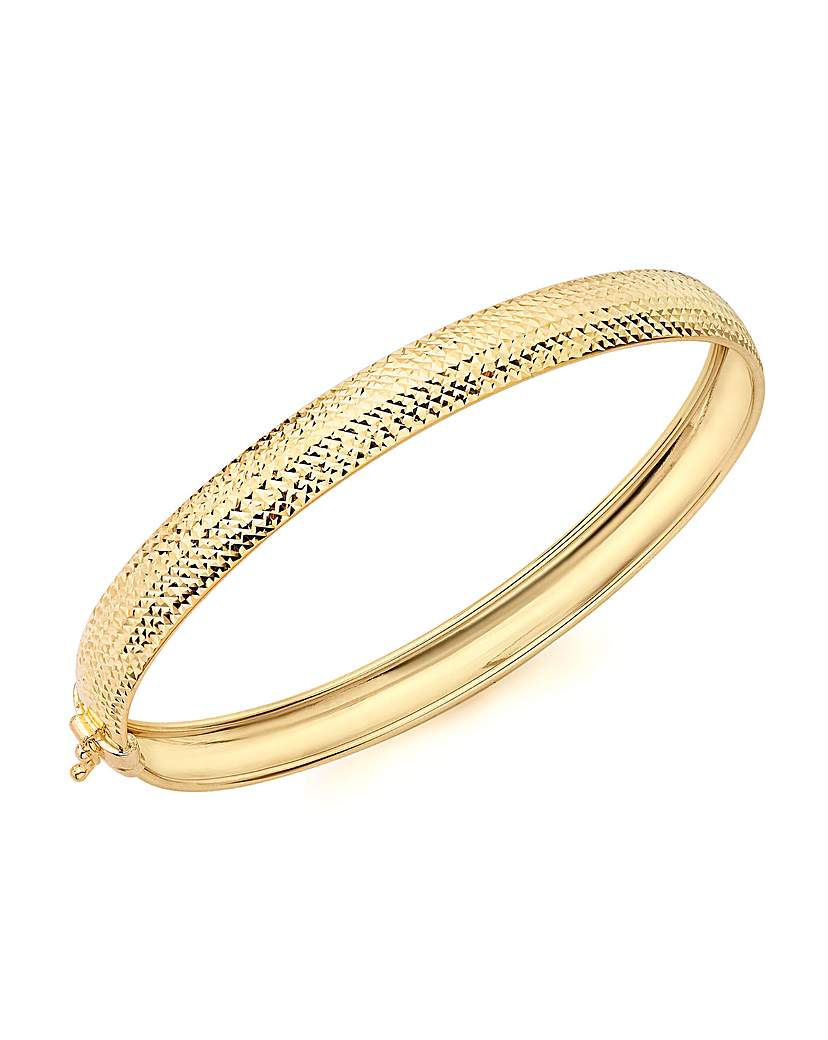 Image of 9Ct Gold Diamond Cut Bangle