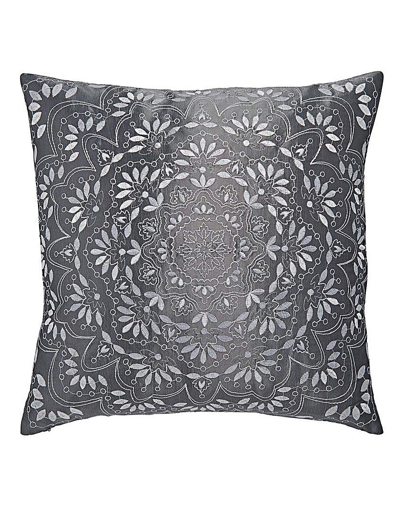 Image of Aisha Embroidered Square Filled Cushion