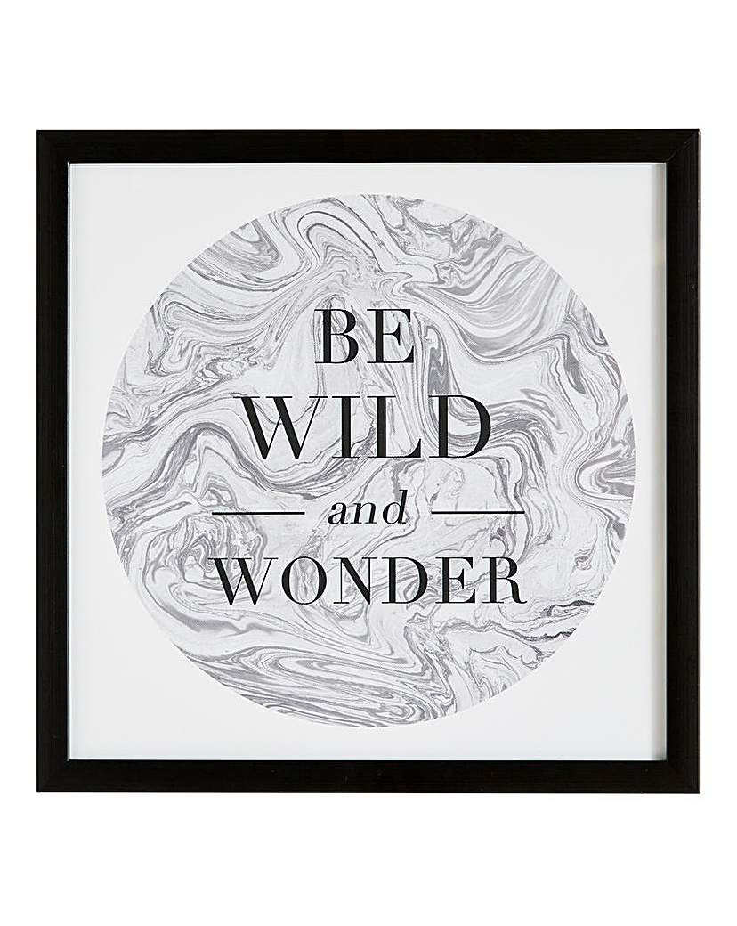 Be Wild and Wonder Framed Marble Print