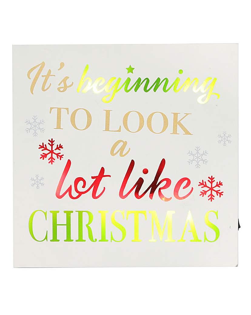 Light up Christmas Plaque