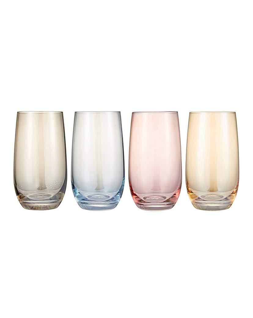 Colour Tint Highball Glasses Set of 4