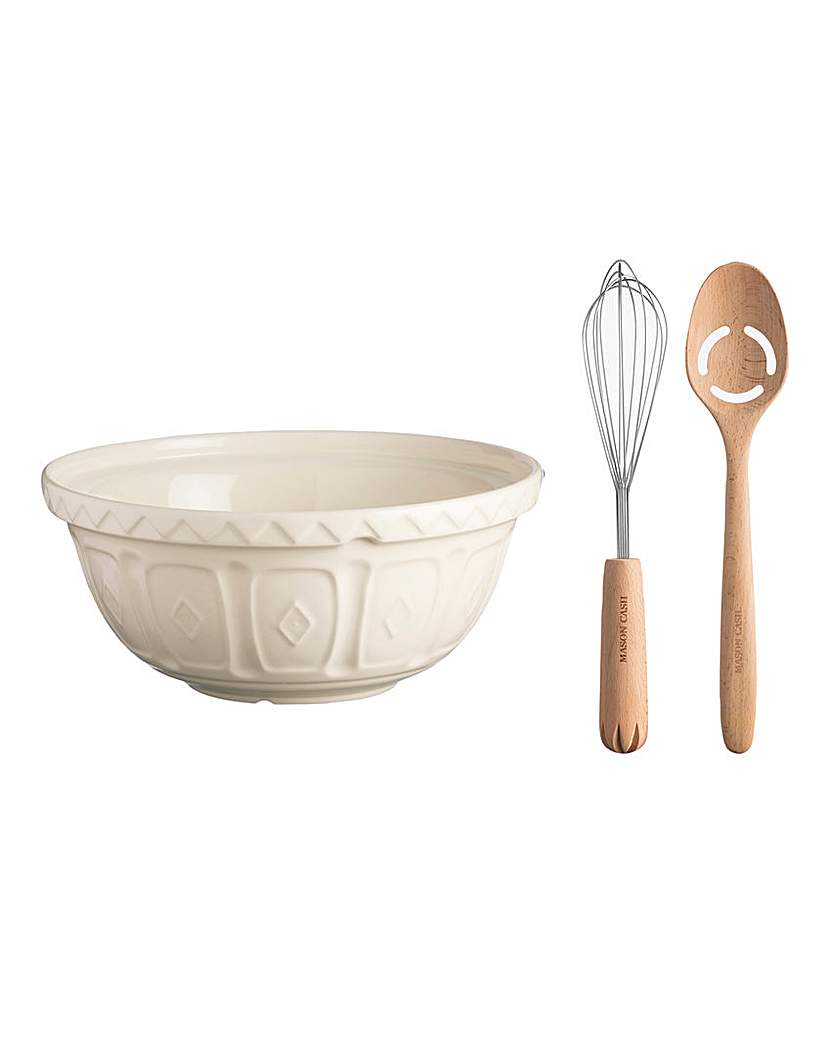 Image of Mason Cash Mixing Bowl + 2 Tools Cream