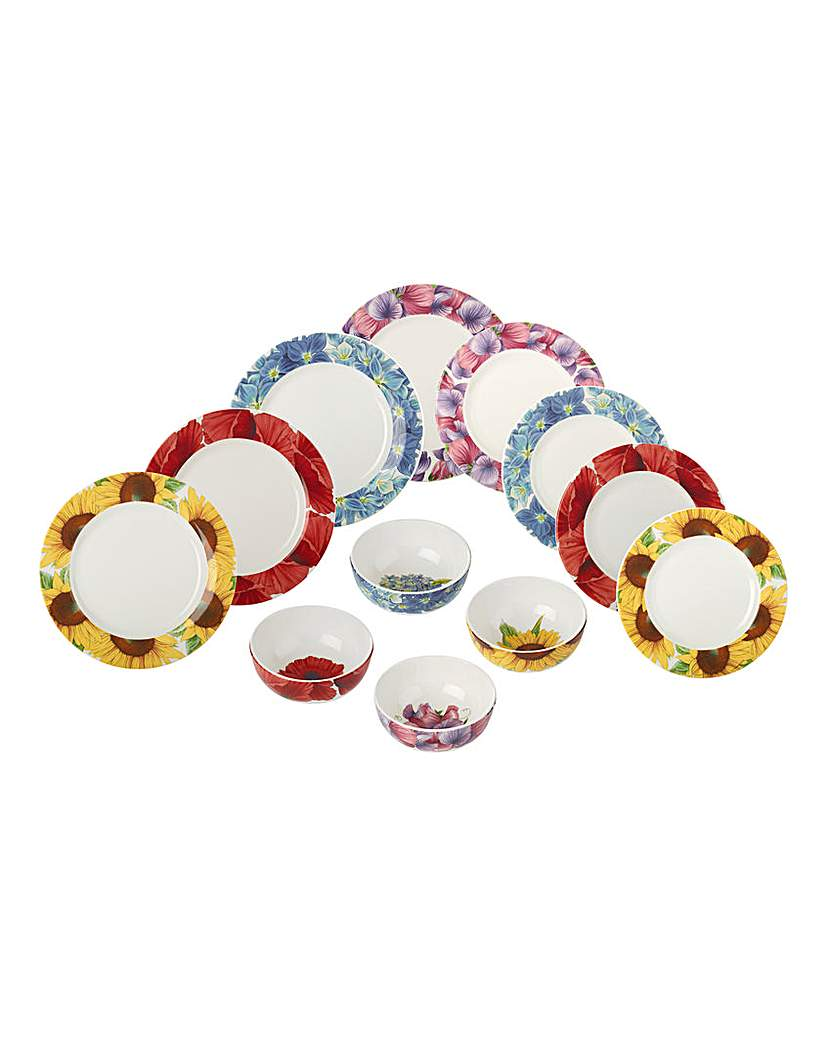 Botanic Blooms 12pc Dinnerset