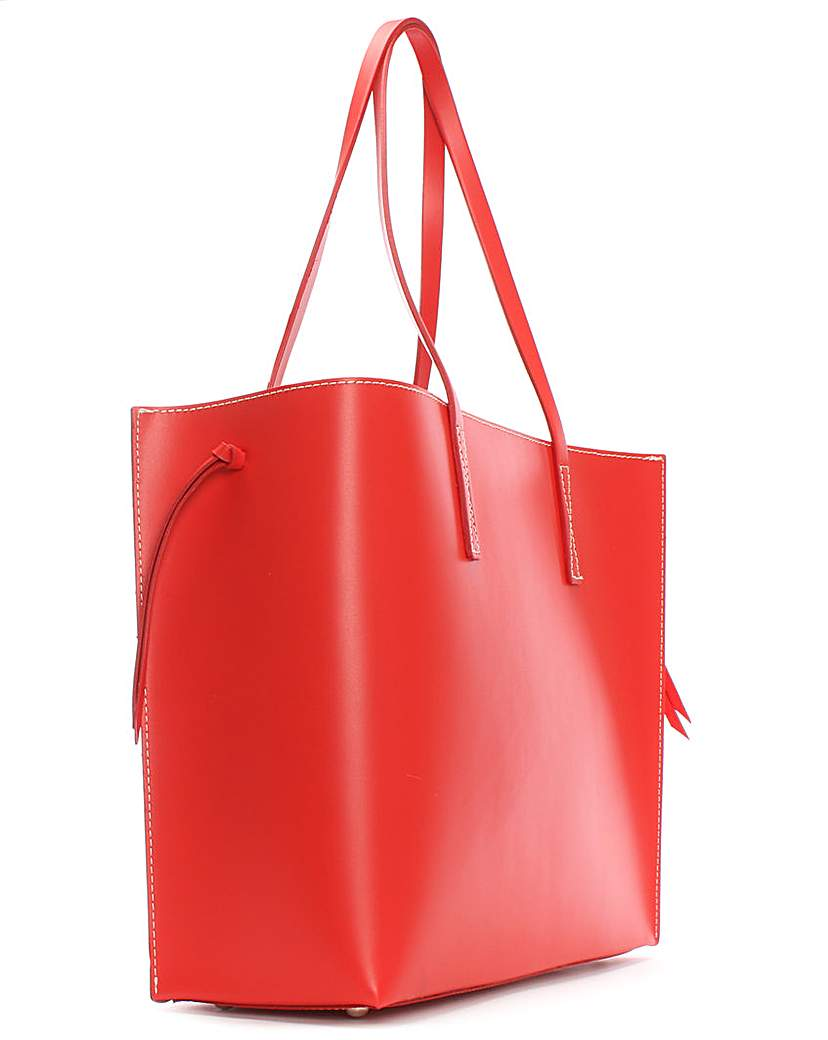 Image of Daniel Shore Leather Unlined Tote Bag