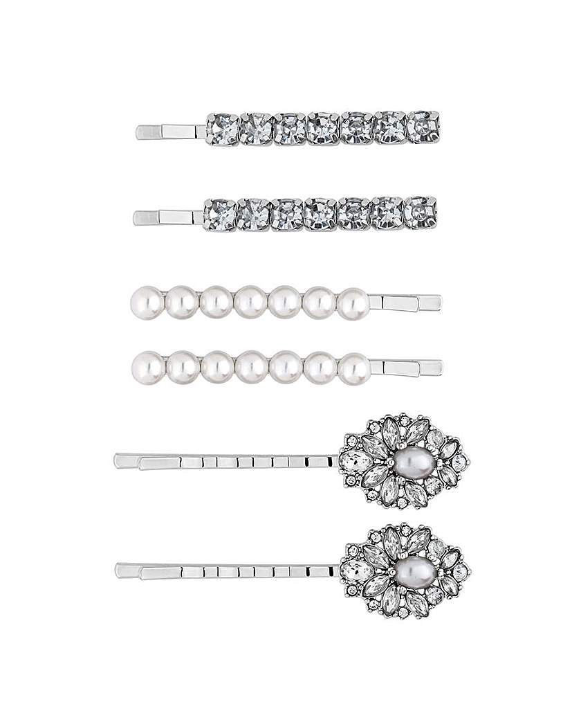 Mood Ornate Crystal Hair Slide Set