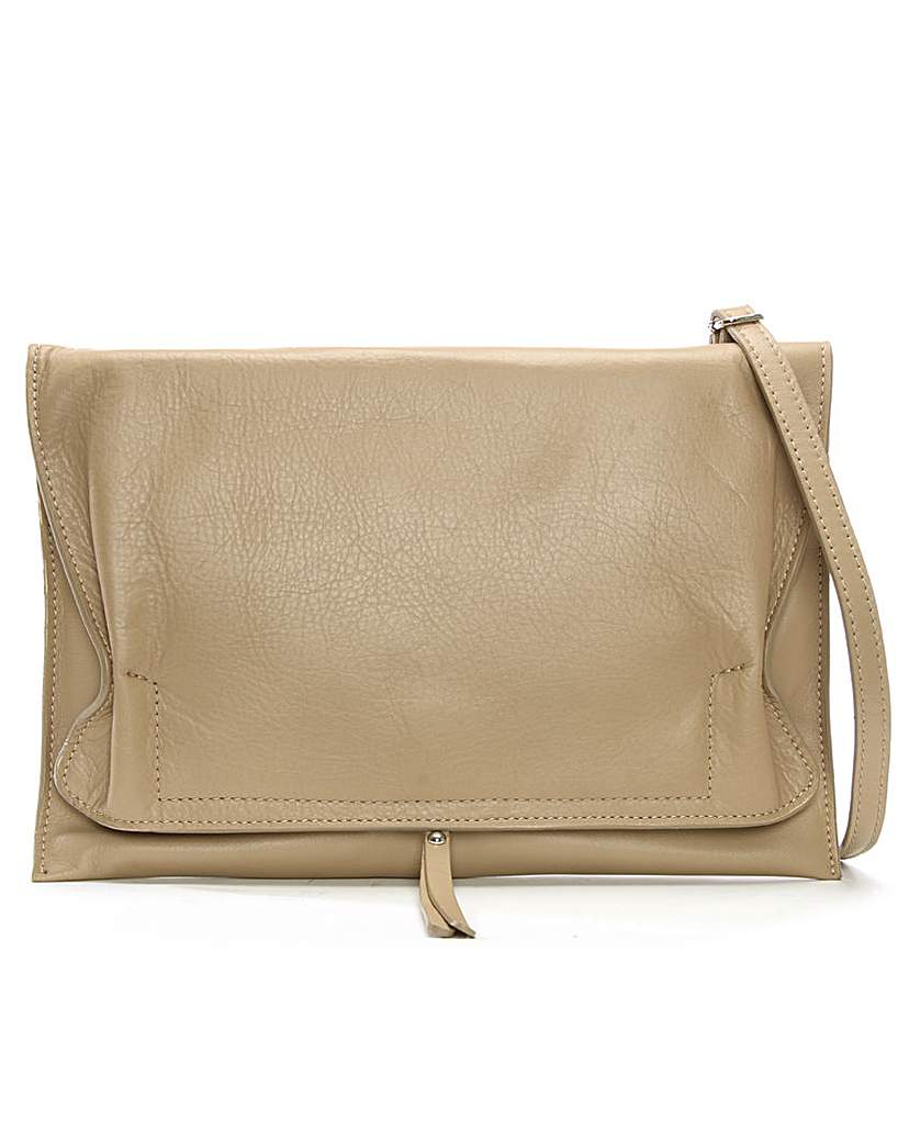 Image of Daniel Match Large Ruched Clutch Bag