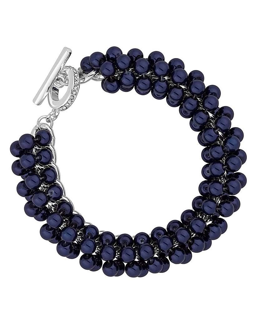 Image of Jon Richard pearl cluster bracelet