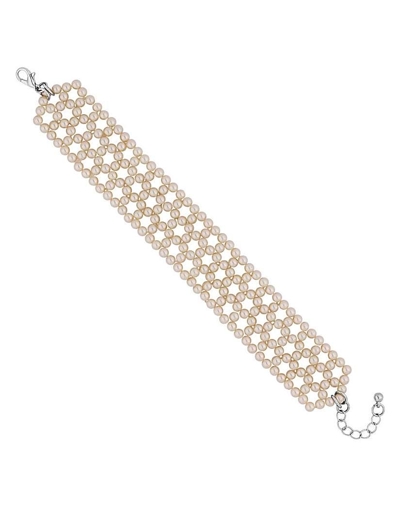 Image of Jon Richard pearl woven bracelet