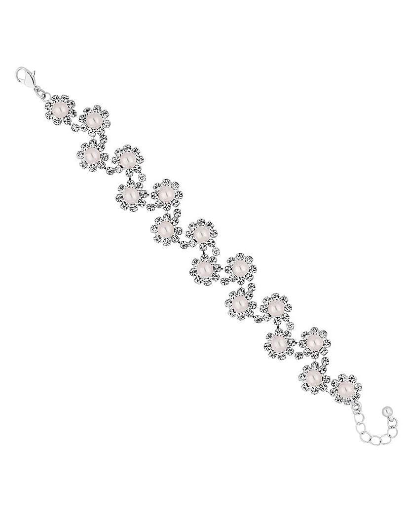 Image of Jon Richard floral pearl bracelet