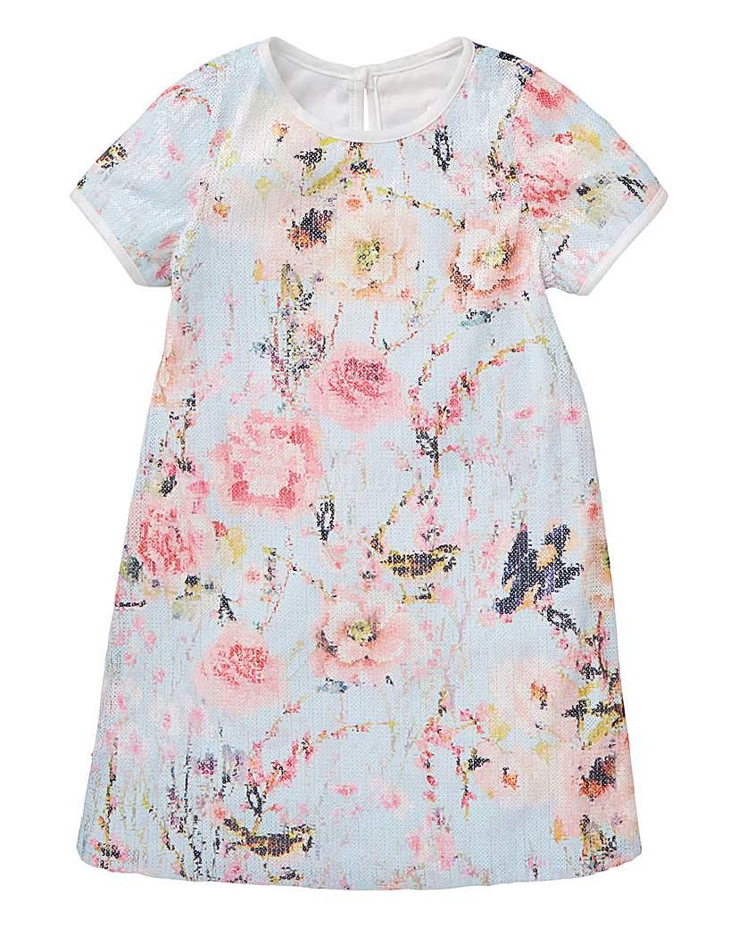 Image of KD Girls Sequin Printed Shift Dress
