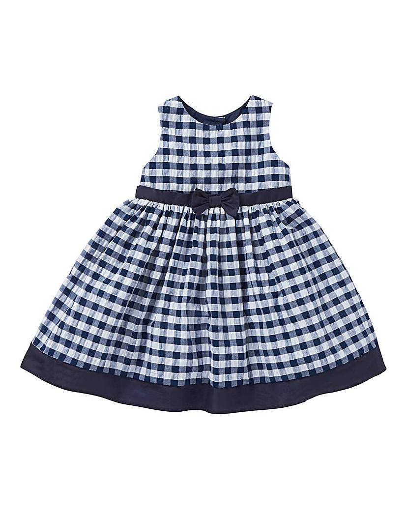 Image of KD Baby Navy Gingham Dress