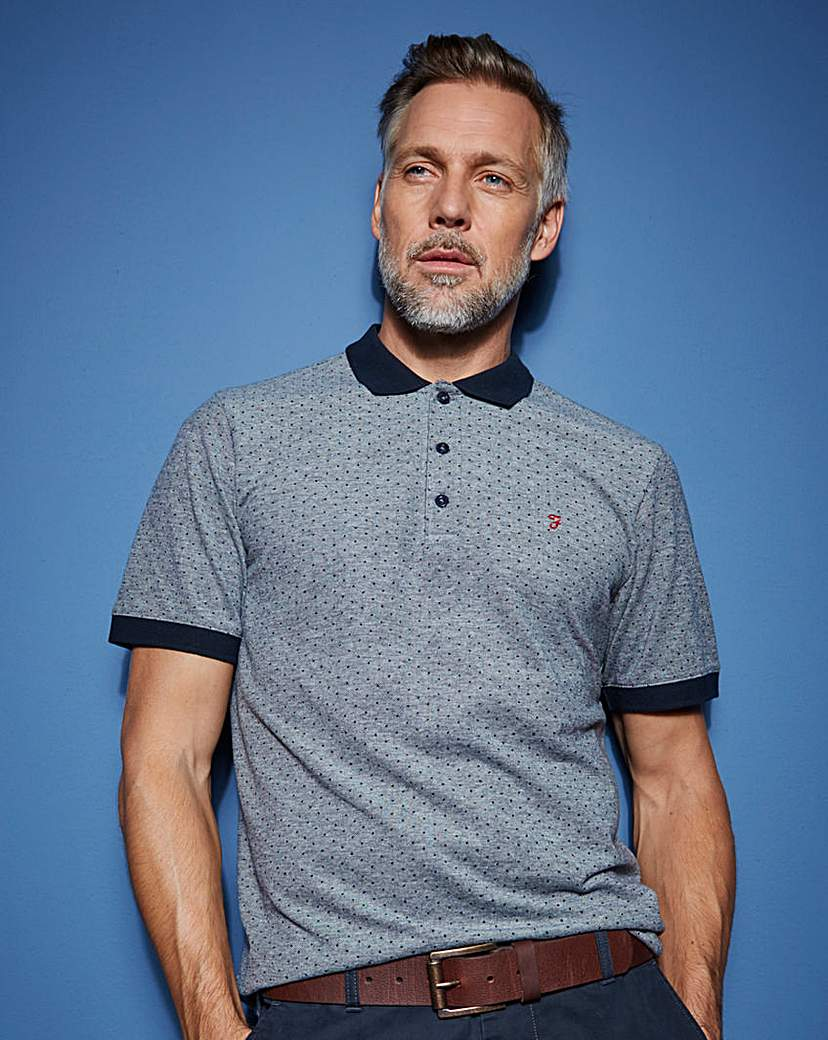 Farah Jacquard Mini Dot Polo.