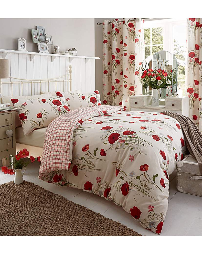 Image of Catherine Lansfield Wild Poppies Bedding