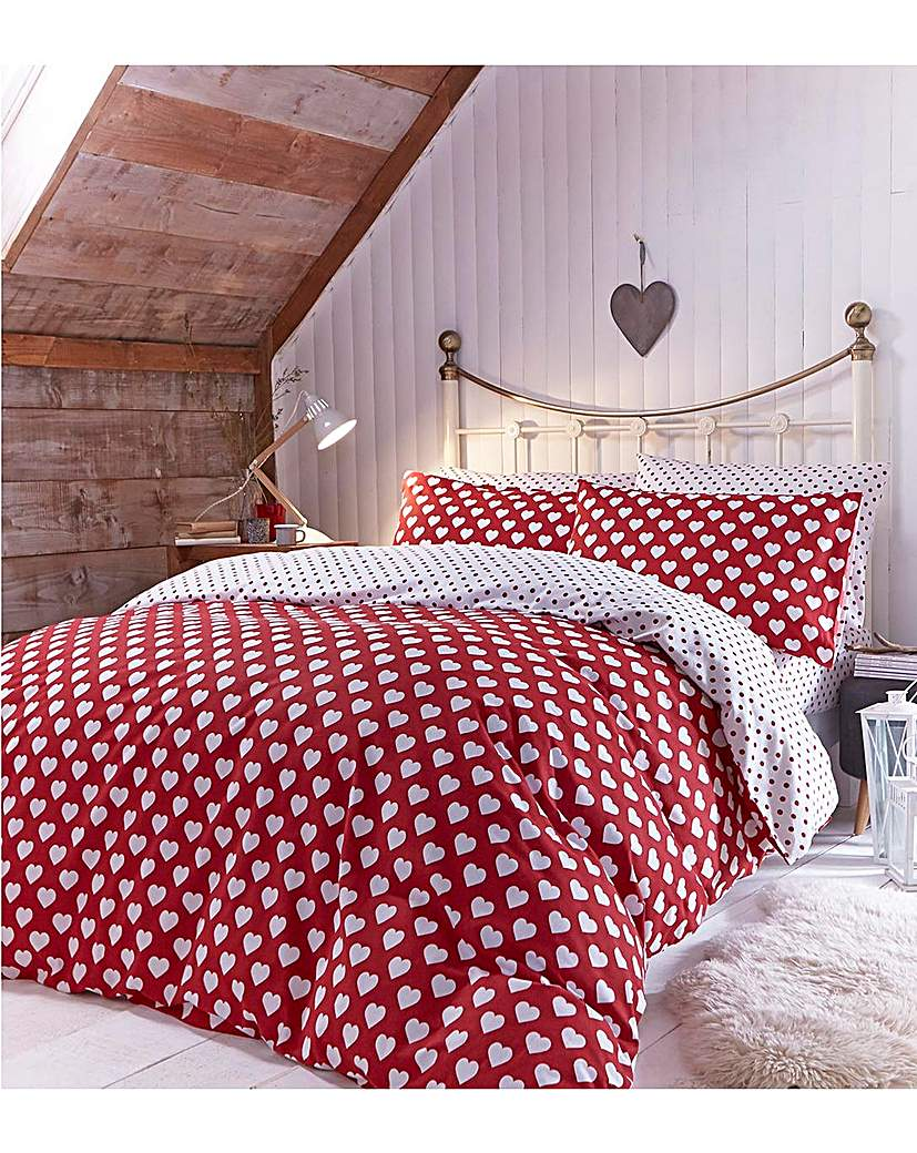 Image of Catherine Lansfield Hearts Pillowcases