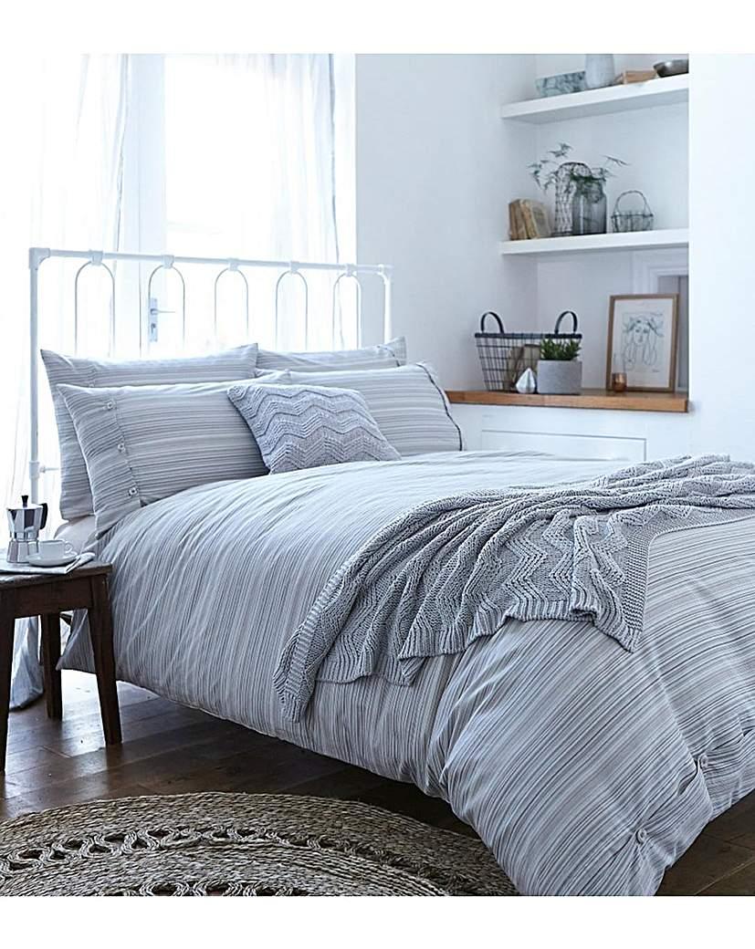 BCS Woven Cotton Stripe Duvet Set.