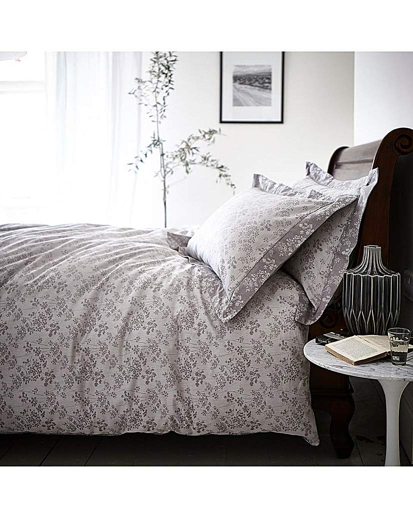 Image of BCS Sprig Cotton Jacquard Duvet Set
