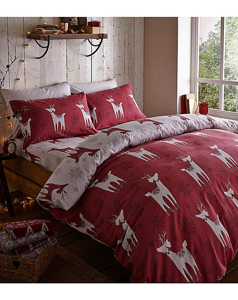 Image of Brushed Nordic Deer Bedding