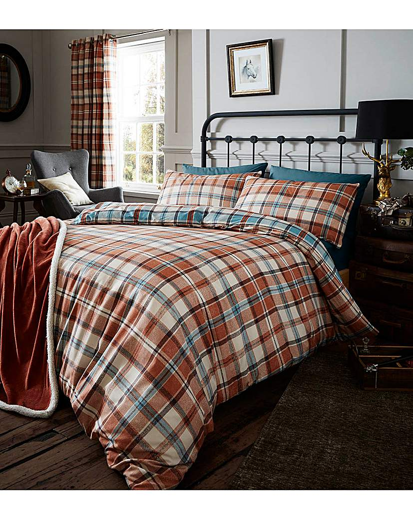 Image of Heritage Kelso Check Duvet Set