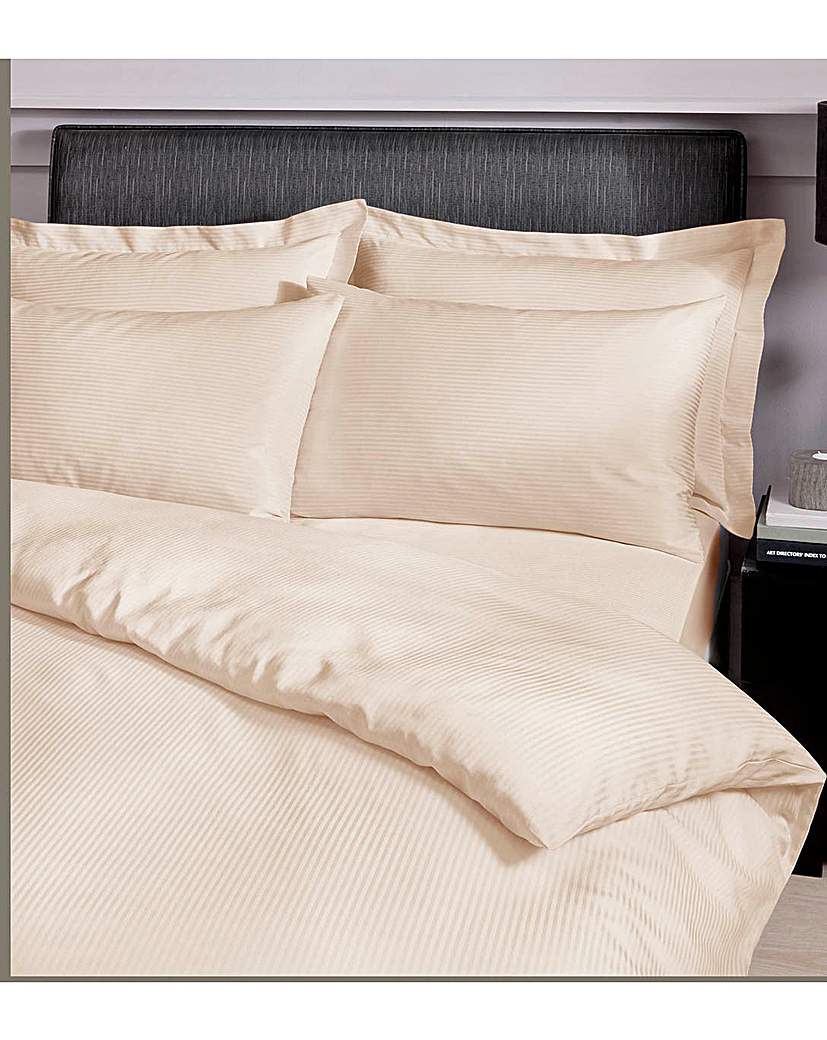 Image of Satin Stripe Fitted Sheets