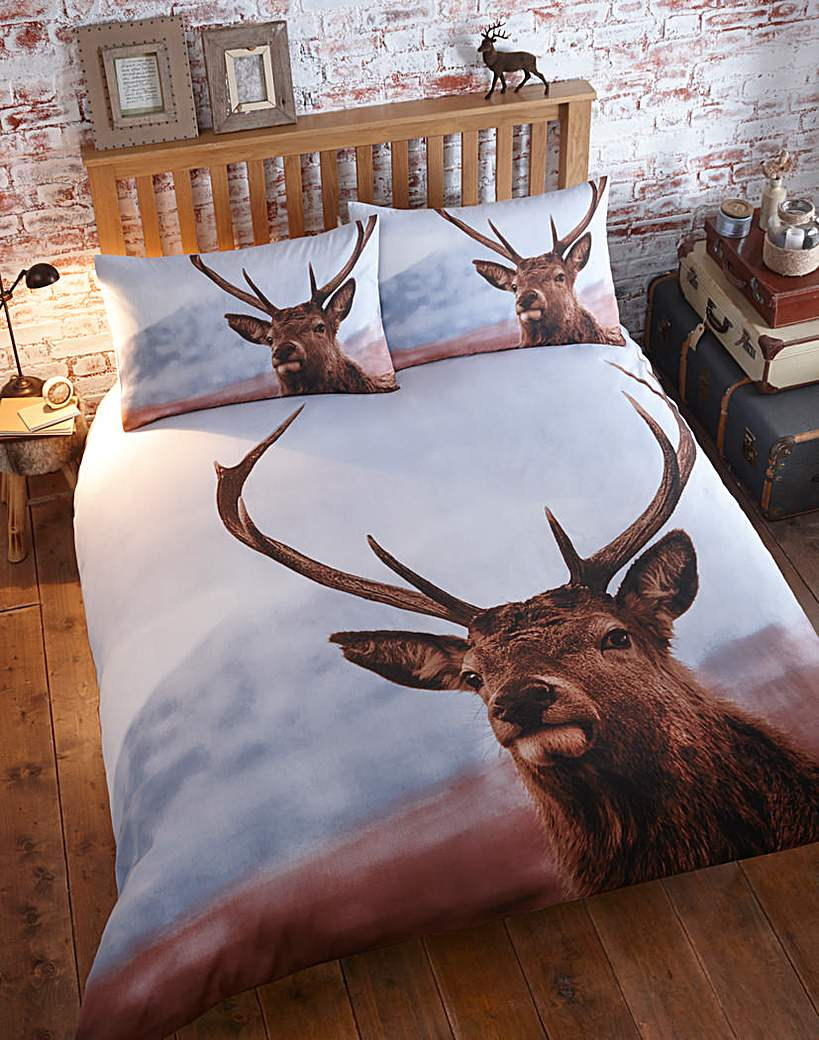 Image of Thru The Lens Highland Stag Duvet Set